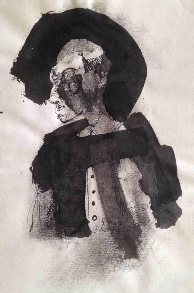 William Bertrum Sharp - pen & ink drawing