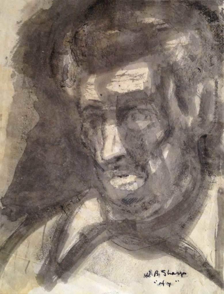 William Bertrum Sharp - portrait of a man