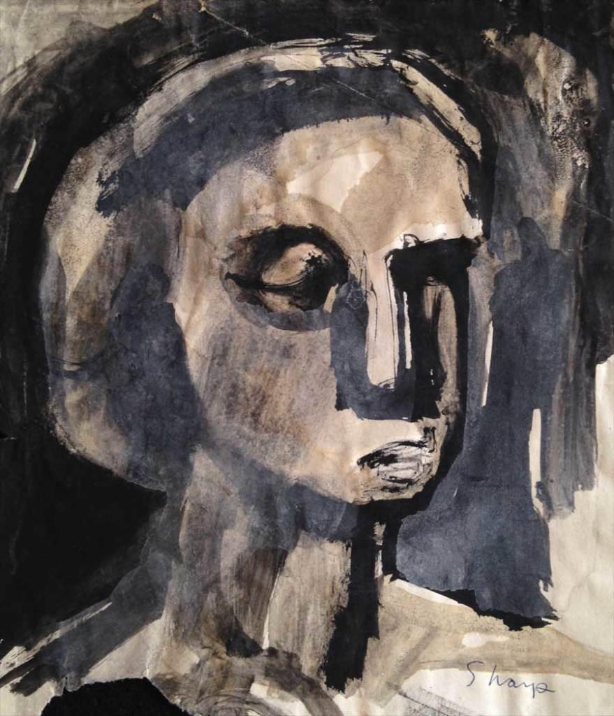 William Bertrum Sharp - dark portrait