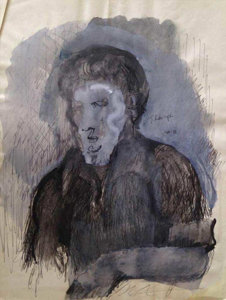 William Bertrum Sharp - gray portrait