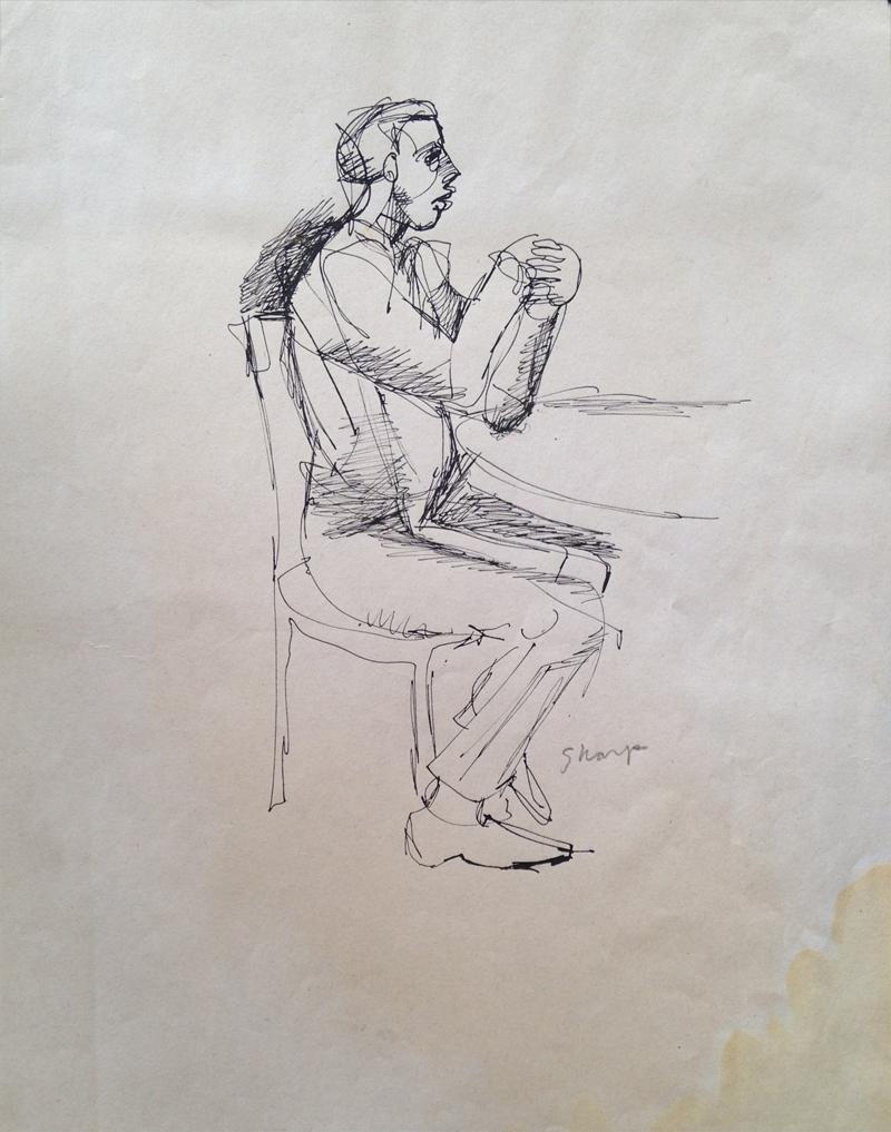 William Bertrum Sharp - seated man