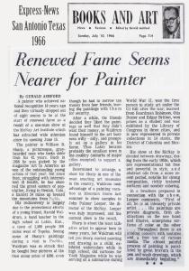 San Antonio Express News 1966