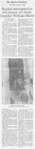 William Bertum Sharp Retrospective Pueblo Chieftan 1989